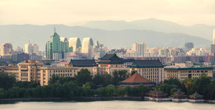 View of Beijing skyline stock images