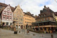 View of Beim Tiergartnertor square in Nuremberg, Germany Stock Image