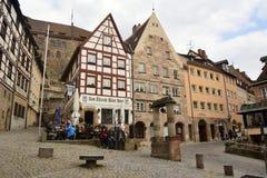 View of Beim Tiergartnertor square in Nuremberg, Germany Royalty Free Stock Image