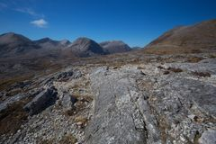 View of Beinn Eighe mountain massif in the Torridon. Area of the Scottish Highlands Stock Photo