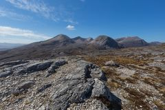 View of Beinn Eighe mountain massif in the Torridon. Area of the Scottish Highlands Stock Images