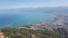 View of Bejaia. View from the gouraya national park Bejaia, Algeria stock photos