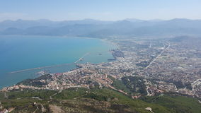 View of Bejaia. View from the gouraya national park Bejaia, Algeria royalty free stock photography