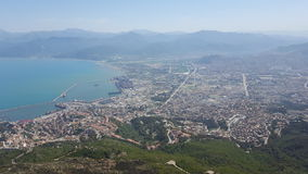 View of Bejaia. View from the gouraya national park Bejaia, Algeria stock images