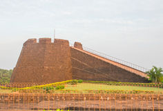 View of Bekal fort pathway. Nice slope construction of way in Bekal fort ,Kerala ,India Royalty Free Stock Photography