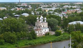 View from bel tower of Vologda Kremlin stock image