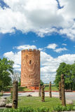 View on Belarusian Kamyenyets Tower or White Tower in summer Royalty Free Stock Images