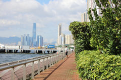 View of Belcher Bay, hong kong at 2017. The View of Belcher Bay, hong kong at 2017 Royalty Free Stock Photo