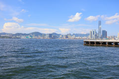 The View of Belcher Bay, hong kong Royalty Free Stock Photos