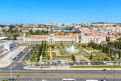 View on Belem and the  Jeronimos Monastery, Lisbon Royalty Free Stock Image