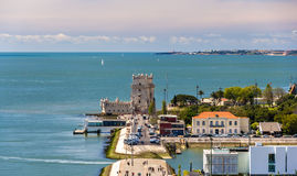 View of Belem tower in Lisbon Royalty Free Stock Image