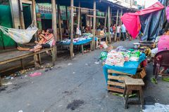 View of Belen Market in Iquitos royalty free stock photography