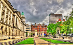 View of Belfast City Hall stock photo