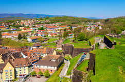 View of Belfort from the fortress Royalty Free Stock Photos
