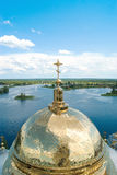 View from the belfry of the dome of the Cathedral Epiphany Royalty Free Stock Photos