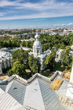 View from the belfry of the Smolny Cathedral in St. Petersburg C Royalty Free Stock Photo