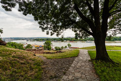 View from Belgrade fortress, Belgrade Serbia Royalty Free Stock Photography