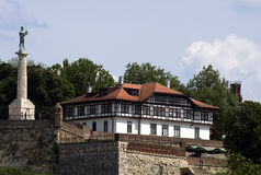 View of the Belgrade fortress Kalemegdan Royalty Free Stock Image