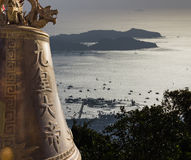 View with the bell of Big Buddha  in Phuket Royalty Free Stock Photo