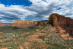 The View from Bell Rock. The beauty that can be seen after a climb to the top of Bell Rock in Sedona, Arizona stock photo