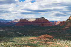 The View from Bell Rock. The beauty that can be seen after a climb to the top of Bell Rock in Sedona, Arizona royalty free stock image
