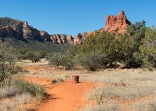 Bell Rock near Sedona, Arizona. View of Bell Rock from Courthouse Butte Trail, Sedona, Arizona royalty free stock photography