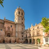 View at the Bell tower of Cathedral San Patrick in Lorca, Spain. View at the Bell tower of Cathedral San Patrick in Lorca - Spain Stock Image