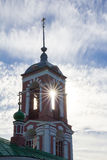 View of the bell tower of the Church of Forty martyrs on the banks of lake Pleshcheyevo. Autumn. Pereslavl-Zalessky. Russia. Royalty Free Stock Photography