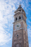 View on bell tower of the church, Venice Stock Photo