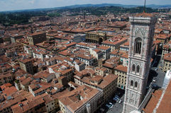 View of bell tower,Florence,Italy. Photo taken from top of duomo,Florence,Italy Royalty Free Stock Images