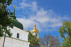 View on bell tower of Saint Sophia Cathedral in Kyiv. Ukraine Stock Photos