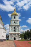 View on bell tower of Saint Sophia Cathedral  in Kyiv, Ukraine. In the summer Royalty Free Stock Photography