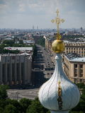 The view from the bell tower. Of the Smolnii cathedral Stock Photos