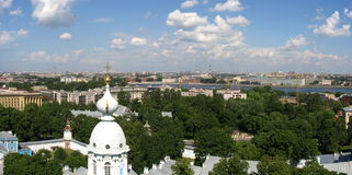 The view from the bell tower 2. The view from the bell tower of the Smolnii cathedral Stock Image