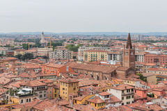 View from the bell tower Torre Dei Lamberti in Verona Stock Image