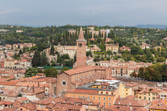 View from the bell tower Torre Dei Lamberti in Verona Stock Photos