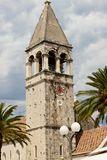 View on bell tower - Trogir Stock Photo