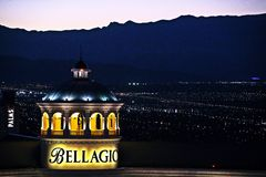 View of the Bellagio Hotel Royalty Free Stock Photography