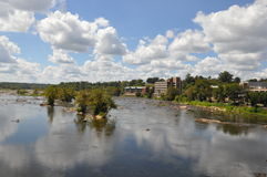 View from Belle Isle Pedestrian Bridge in Richmond, Virginia Royalty Free Stock Images