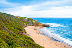 View of Bells beach on Great Ocean Road, Victoria state, Australia Royalty Free Stock Images