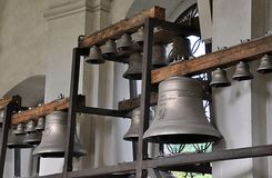 View of the bells and belfry Stock Photos