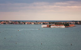 View from a belltower of San Giorgio Maggiore Stock Images