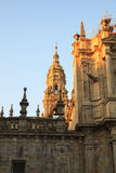View of the belltower of the Santiago cathedral Stock Images