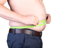 View of a the belly of a overweighted male Stock Photo