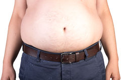 View of a the belly of a overweighted male Stock Photography