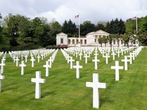 View below the American Cemetery and the Memorial of Suresnes, France, Europe royalty free stock images