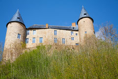 View from below of beautiful Veves Castle Stock Photos