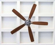 Fan on Box Beam Ceiling royalty free stock photo