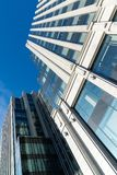 View from below on glass office buildings Stock Image