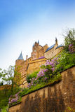 The view from below of Hohenzollern castle Royalty Free Stock Images